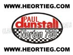 Paul Dunstall Norton 750 Tank and Fairing Transfer Decal DDUN8-1